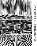 doodle black and white abstract ... | Shutterstock .eps vector #496687624