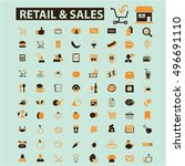 retail   sales icons | Shutterstock .eps vector #496691110