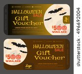 vector gift voucher to... | Shutterstock .eps vector #496692004