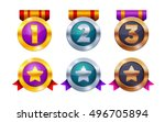 trophy and awards icon design... | Shutterstock . vector #496705894
