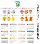 Calendar 2017 Icon Set Vector...