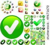 approved vector button set.... | Shutterstock .eps vector #49671670