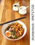thai cuisine   noodle tom yam ... | Shutterstock . vector #496717120