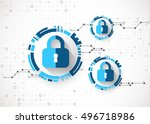 protection concept. protect... | Shutterstock .eps vector #496718986