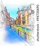 venice   fondamenta rio marin.... | Shutterstock .eps vector #496720690