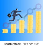 on the way to success business... | Shutterstock .eps vector #496724719