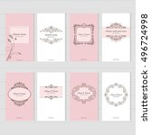 vintage card templates set in... | Shutterstock .eps vector #496724998