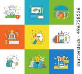 concept of insurance  internet... | Shutterstock .eps vector #496728526