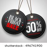 black friday sale vector price... | Shutterstock .eps vector #496741900