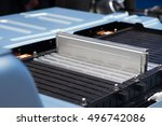the batteries of a electric car.... | Shutterstock . vector #496742086