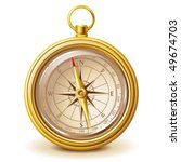 gold compass  only gradients ... | Shutterstock .eps vector #49674703