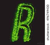 vector grunge toxic font 001.... | Shutterstock .eps vector #496749430