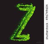 vector grunge toxic font 001.... | Shutterstock .eps vector #496749604
