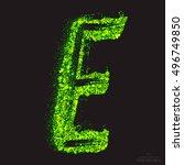 vector grunge toxic font 001.... | Shutterstock .eps vector #496749850