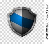 isolated shield  vector  | Shutterstock .eps vector #496751410
