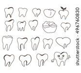 teeth hand drawn illustration.   Shutterstock .eps vector #496760830