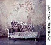 grunge styled interior.... | Shutterstock . vector #496767064