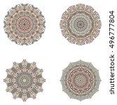 set of mandala's. vector...   Shutterstock .eps vector #496777804