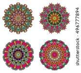 set of mandalas. vector mandala ... | Shutterstock .eps vector #496777894
