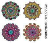 set of mandalas. vector mandala ... | Shutterstock .eps vector #496777960