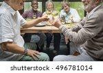 group of senior retirement meet ... | Shutterstock . vector #496781014