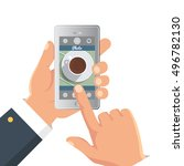 hand taking picture photo of...   Shutterstock .eps vector #496782130