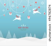 merry christmas holiday... | Shutterstock .eps vector #496782874