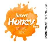 sweet honey  watercolor  light... | Shutterstock .eps vector #496783210