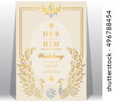 indian wedding invitation or... | Shutterstock .eps vector #496788454