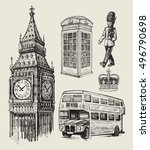 vector hand drawn illustration... | Shutterstock .eps vector #496790698