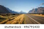 aoraki mount cook national park ...   Shutterstock . vector #496791433