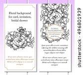vintage delicate invitation... | Shutterstock . vector #496801939