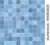 tile in the bathroom. blue...   Shutterstock . vector #496803820