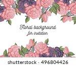 romantic invitation. wedding ... | Shutterstock . vector #496804426