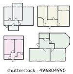 flat projects vector set | Shutterstock .eps vector #496804990