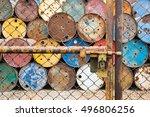Doors Rusted Iron Fence Locked...