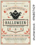 Halloween Night Party Poster...