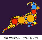 sheep shape vector design by... | Shutterstock .eps vector #496812274