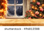 background of xmas time and... | Shutterstock . vector #496813588