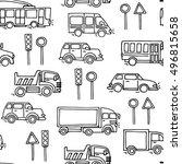 sketch urban transportation... | Shutterstock .eps vector #496815658