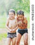 Two Little Boys Having Fun...
