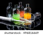 laboratory equipment  pipette ... | Shutterstock . vector #496816669