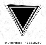 abstract black triangle.... | Shutterstock .eps vector #496818250