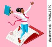 businesswoman concept... | Shutterstock .eps vector #496819570