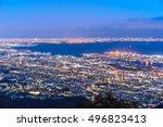 night view from kikuseidai... | Shutterstock . vector #496823413