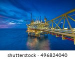 oil and gas production platform ... | Shutterstock . vector #496824040