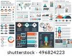 bundle infographic teamwork... | Shutterstock .eps vector #496824223