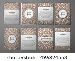 flyers template set with...   Shutterstock .eps vector #496824553