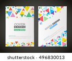 abstract vector triangle design ... | Shutterstock .eps vector #496830013