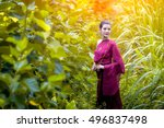 women wearing traditional cloth ... | Shutterstock . vector #496837498